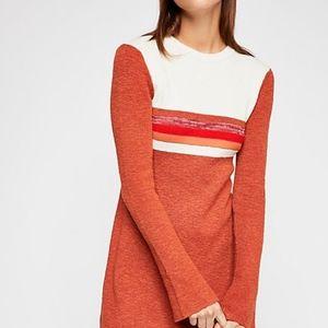 Free People Colorblock Swit Mini Dress